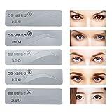 50 Stück Selbstklebend Semi-permanent make up Augenbrauen Schablone, 5 Arten Augenbrauen Microblading Vorlage, DIY MakeUp für Hilfe Augenbrauen Styling, Weich und Harmlos