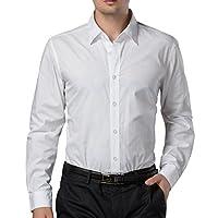 Paul Jones®Men's Shirt Business Casual Dress Shirt Cotton X-Large White