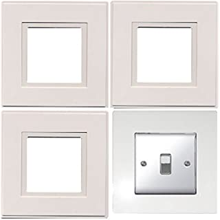 4 Pack Light Switch Plates (White) - By Pajee TM