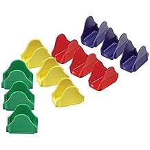 Soporte de plástico con forma de ola, 12 piezas, mini colorido, soporte para