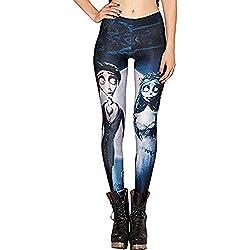 Leggings ajustados con diseño impreso Color10487 Talla única