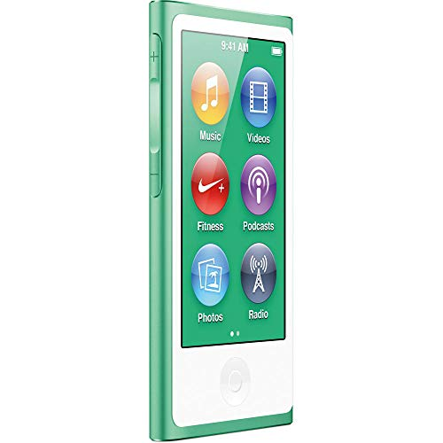 Apple iPod Nano 7. Generation - Reproductor Mp3 (16 GB, 7 G, Bluetooth), Color Verde