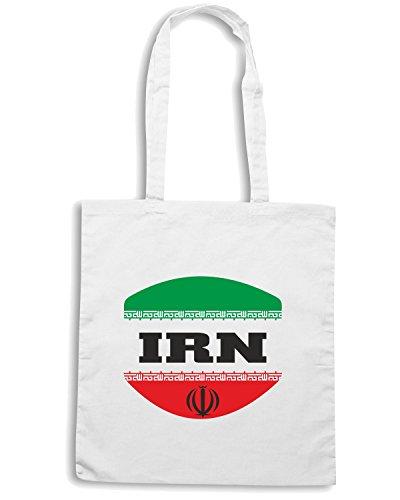 T-Shirtshock - Borsa Shopping T0720 IRAN calcio ultras Bianco