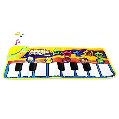 BESTSOGER Musical Mat, educación temprana música Piano Teclado Juguete Animal, Toque Jugar Canto Manta Gimnasio Alfombra bebé Regalo Seguridad Aprender Cantando Juguete Divertido para niños