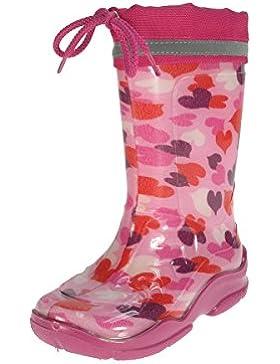 Beppi Mädchen Gummistiefel Regenstiefel mit Cordelzug Wasserdicht Rosa