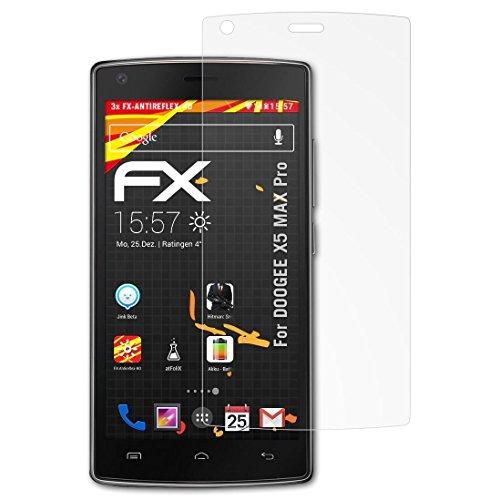 atFolix Schutzfolie kompatibel mit DOOGEE X5 MAX Pro Bildschirmschutzfolie, HD-Entspiegelung FX Folie (3X)
