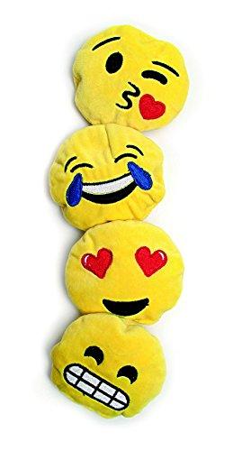 Emojis 4er Set aus gelben Schmuseplüsch