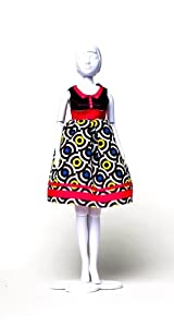 MaRécréation-Dress Your Doll Audrey gráfica Coser Traje muñeca maniquí, dress-doll-003