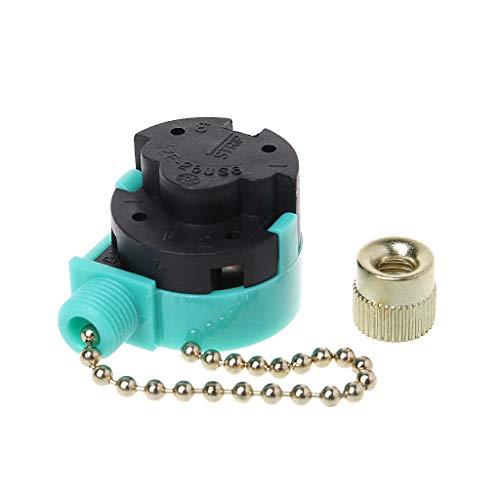 LANDUM - Interruptor de 3 velocidades de 3 A/250 V 6 A/125 V con...