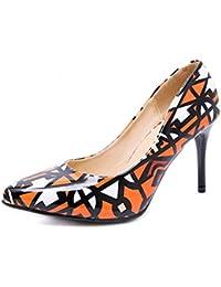 es De Naranja Tacón Zapatos Amazon Para Mujer 4vRd4w