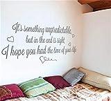 Adesivi da Parete Citazioni Camera da Letto Soggiorno Decorazioni Parete È qualcosa di imprevedibile ma alla fine è una vista spero che tu abbia avuto il tempo della tua vita