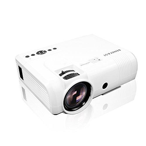 Beamer, Benefast Mini Tragbar Multimedia Full HD Projektor 2000 Lumen,1080P HDMI USB TF VGA AV 3D Videoprojektor für Heimkino Unterhaltung, Kann mit Computer/Smartphone/Laptop/Tablette/TV-Box verbinden, - Led-projektor-1080p-epson