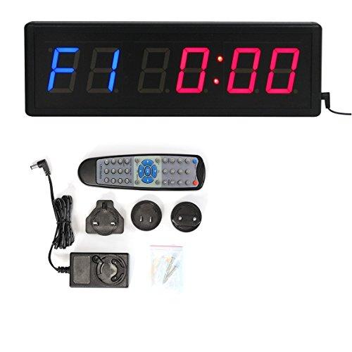 Dígitos LED cuenta atrás intervalo gimnasio fitness