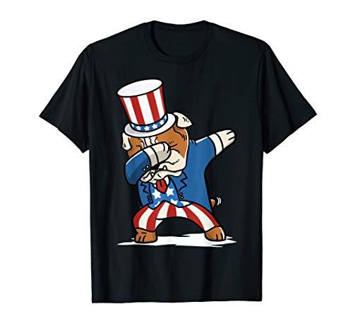 lldogge 4th Of July Dab Dance Geschenk  T-Shirt ()