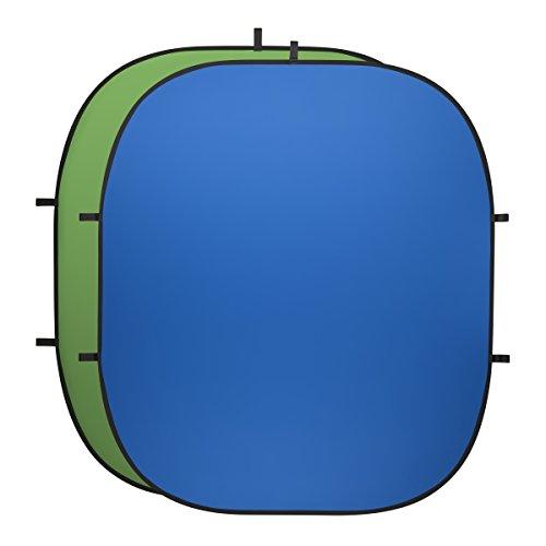 walimex pro Falthintergrund (200 x 230 cm) grün/blau