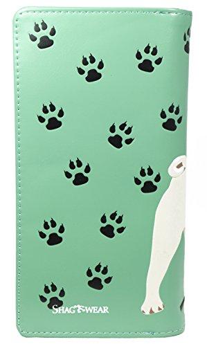 Shagwear portafoglio per giovani donne , Large Purse : Diversi colori e design: carlino vita acqua / Pug Life Teal