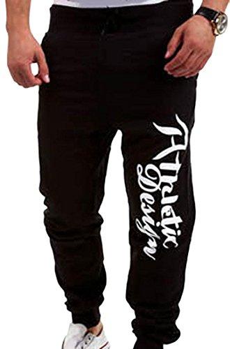 jeansian Estate Tendenze Moda Uomo Sport Casuale Pantaloni Della Tuta Harem Pants S376 Black