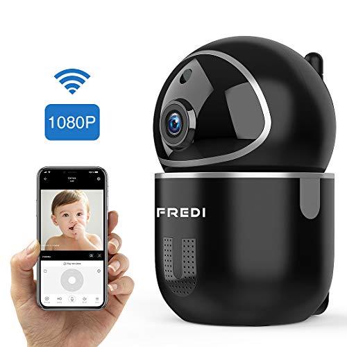 FREDI Cámara Vigilabebés Inalambrico Bebé Monitor,1080P HD Detección de Movimiento,Cámara Vigilancia...