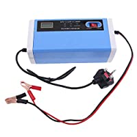 MagiDeal 10A Electric Car Smart LED Display Battery Charger 12V/24V Intelligent Pulse Repair