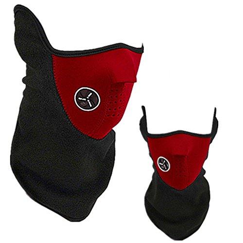 Himki Winter Gesichtsmaske Skimaske Motorrad Sturmmaske zum Winddicht und Staubdicht (rot)