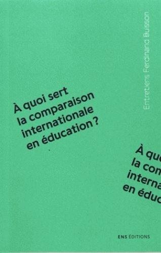 quoi sert la comparaison internationale en ducation ?