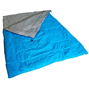 41pQbsCa6CL. SS300  - Kingfisher Unisex OLSB2 Double Polyester Camping Sleeping Bag, Blue, NA