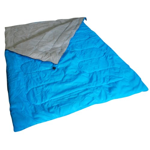 41pQbsCa6CL. SS500  - Kingfisher Unisex OLSB2 Double Polyester Camping Sleeping Bag, Blue, NA