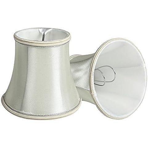 Splink 2piezas Pantalla para lámpara de tela Europea estilo Samsung Galaxy S3MINI tonos hecho a mano, para velas, bombilla de pared, lámpara de mesa 80* 120* 110mm