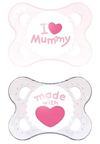 MAM Babyartikel, MAM 66735022 Original Succhietto in silicone 0-6 Mesi, I love mummy per Bimba