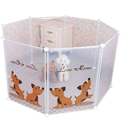Dominiti Freigehege für kleine Hunde, Welpen, Hamster, Hasen, Transparente Platten aus Kunststoff, Laufstall für Kleintiere, Auslauf, Zucht, Welpenlaufstall Freilaufgehege