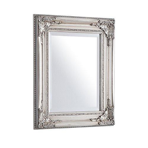 Invicta Interior Filigraner Barock Spiegel SPECULUM silber 55 cm Wandspiegel Badspiegel