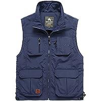 GDS/de hombre Casual vests. al aire libre impermeable y transpirable malla cuello pesca Director de fotografía vest. chaleco hombres, 3-XXL