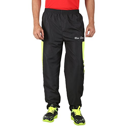 Ico Blue Stor Men's Polyester Track Pant (551177_Black_34)