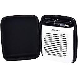 Housse pour Enceinte Bluetooth Bose SoundLink Color II - Antichoc & Imperméable. Espace Exclusif pour Le Chargeur et Le Câble - Noir