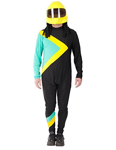 Jamaican Mens Bobsleigh Team Fancy Dress Costume with Helmet