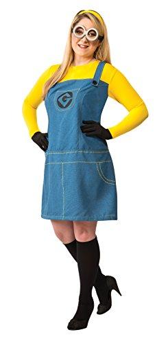 Minion Kostüm Gru mein Lieblings-Bösewicht für große Frauen (Bösewicht Kostüme Für Frauen)