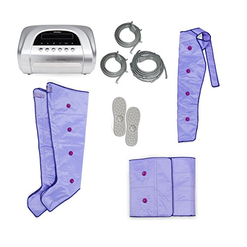 Medical Confort - Apparecchio completo per pressoterapia, include un'unità principale, accessori per gambe, braccia e addome,manuale di istruzioni in 5 lingue (italiano non garantito)