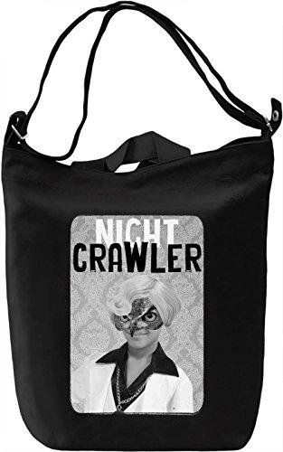 Night Crawler Leinwand Tagestasche Canvas Day Bag| 100% Premium Cotton Canvas| DTG (Owl Mask Nite)