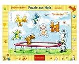 Spiegelburg 11003 Holzsteckpuzzle Die Lieben Sieben - Auf dem Trampolin (7 T.)