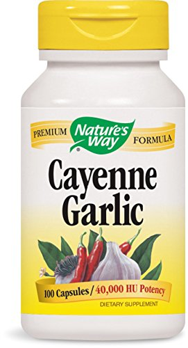 Nature's Way Cayenne and Garlic 530 mg 100 Capsules