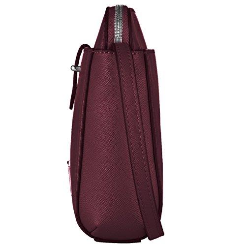 Grande vendita calda per svuotare il magazzino, prezzo basso, mini borsetta da cintura in pelle sintetica con catena per cintura e tracolla, Green (nero) - LA-005 Red Wine