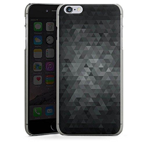 Apple iPhone 6s Tasche Hülle Flip Case Dreiecke Modern Dunkel Hard Case anthrazit-klar