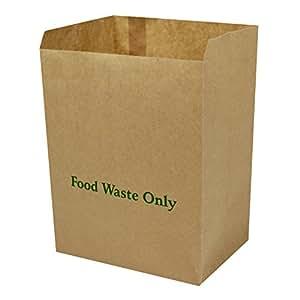 8 litre x 25 paper compostable bags kitchen caddy liners. Black Bedroom Furniture Sets. Home Design Ideas