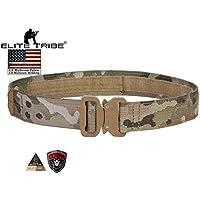Elite Tribe Cinturón de Hebilla de cinturón de Airsoft Militar táctico Combate de 1.5Pulgadas Cobra Rigger cinturón Multicam