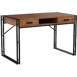 Mendler Bureau Dohna, Table d'ordinateur, 121x70cm, Structure 3D ~ chêne Sauvage