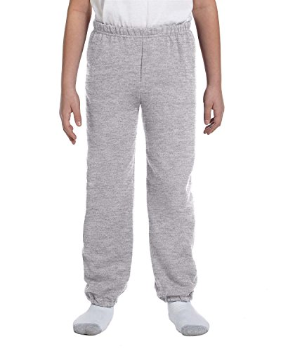 Gildan – Pantaloni di tuta modello Heavy Blend Youth Sport Grey
