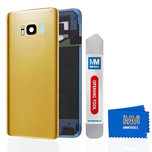 MMOBIEL Backcover Akkudeckel Rückseite Klappe mit Linse kompatibel mit Samsung Galaxy S8 Plus G955 6.2 Inch (Gold) - Unlocked Att Handys