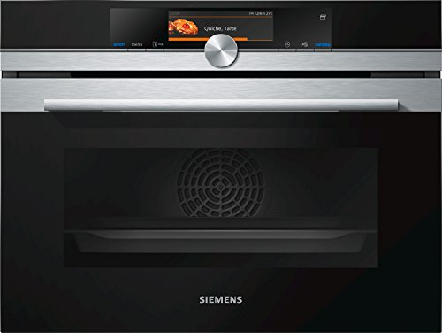 CS658GRS1 SIEMENS Fours compacts 45 cm 15 modes de cuisson - cuisson à la vapeur - ecoClean Plus - cookControl Plus - écl. LED - rail tél. A+