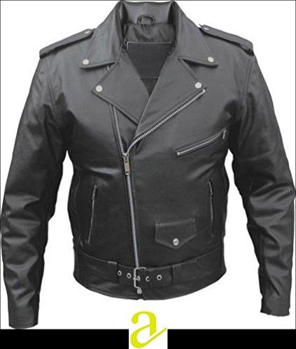 Preisvergleich Produktbild ATL Perfecto Brando Motorradjacke, gesteppt, 100% gemilltes Rindsleder, S– 8XL