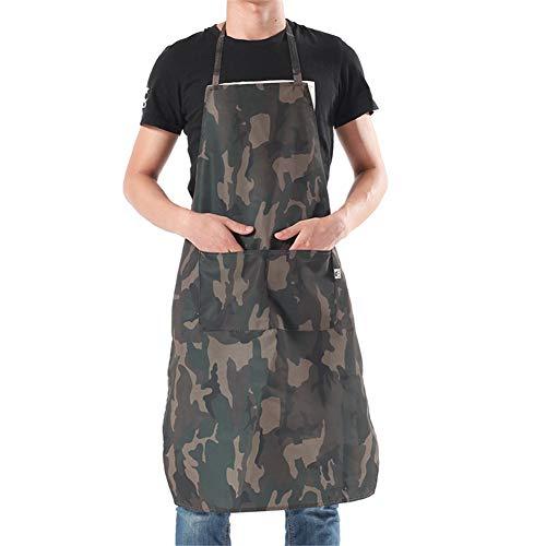 3 Stück Kochschürze Mit 2 Taschen, Premium-Küchenschürze, Grillschürze Für Männer, Frauen, Keller, Organisiert Bleiben Grillen Und Kochen - Polyester -